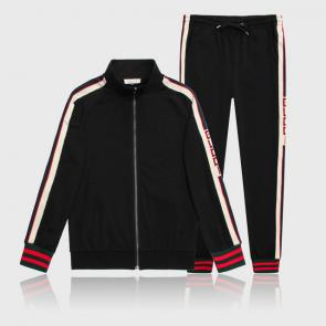 gucci blouson pantalon de survetement shoulder logo black